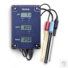 HI-981504/5 pH/TDS/Temperature Monitor Hanna