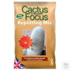 Cactus Focus Repotting Mix 2 Litres Growth Technology