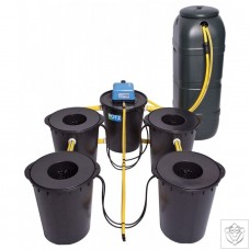 DWC 4 Potz System with 100L Tank