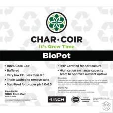 "Char Coir 4"" BioPot (Box of 128)"