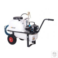 Comet Trolley Sprayer Electric 50lt 230V MC18 10.7lpm 15bar with 50m Hose and Reel