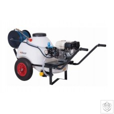 Comet Trolley Sprayer Petrol 120l 4 Stroke High Pressure Lance 40m Hose with Reel