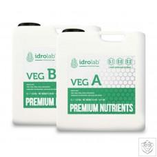 Idrolab Premium Nutrients VEG A & B Idrolab