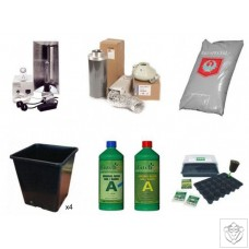 Quality 4 Plant 600W HPS Indoor Soil Grow Kit N/A