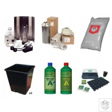 Standard 4 Plant 400W HPS Indoor Soil Grow Kit